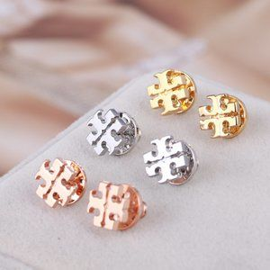 Tory Burch Fashion Classic Letter Metal Earrings